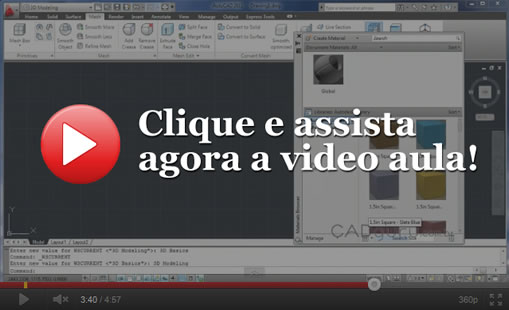 Vídeo aula: A Interface do AutoCAD