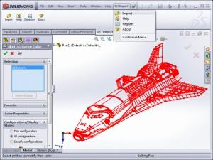 Importar no SolidWorks