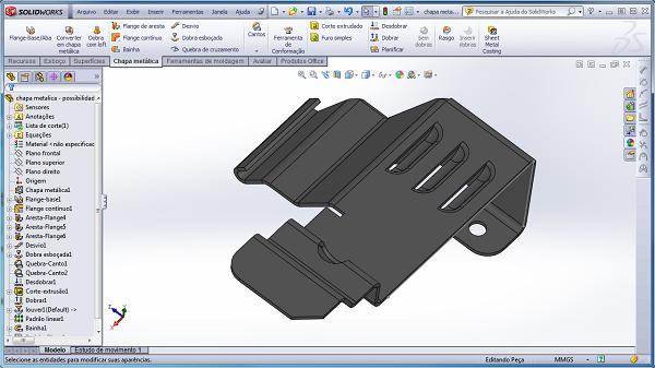 Chapas Metálicas - SolidWorks