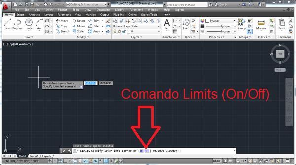 Comando Limits no AutoCAD