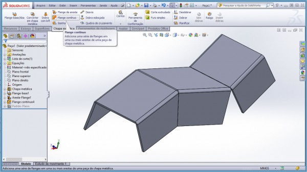 Flange Continuo - SolidWorks