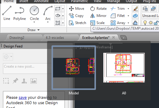 File Tabs no AutoCAD 2014