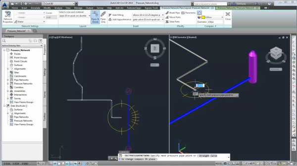 Pressure network AutoCAD Civil 3D
