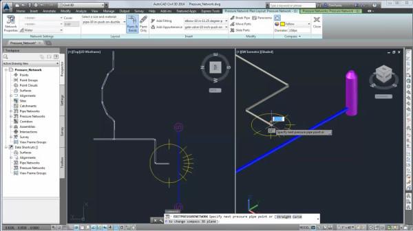 Pressure network AutoCAD Civil 3D