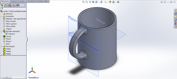 Inserindo filetes no SolidWorks