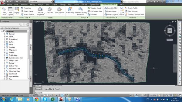 Tela copyclip do Civil 3D