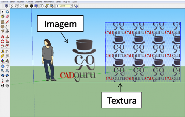 importar imagem textura sketchup