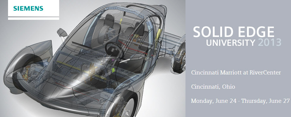 Capa do Solid Edge University 2013 - Lançamento do Solid Edge ST6