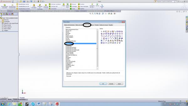 2 - Adicionando comandos de esboço no SolidWorks