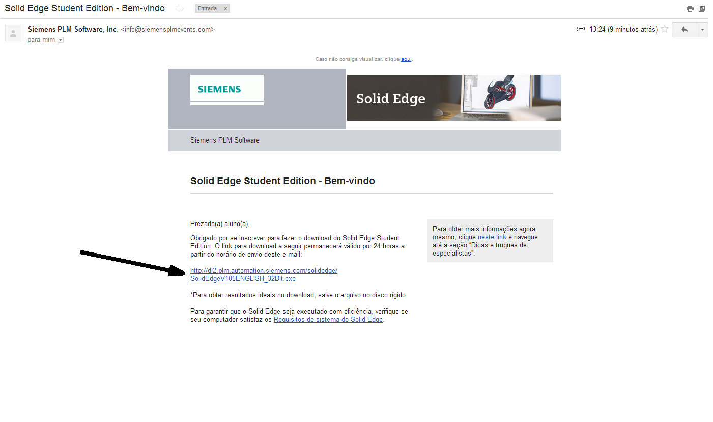 Link para download do Solid Edge Student