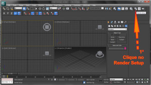 Como abrir o Setup do Render no 3ds Max