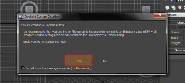 Como utilizar o Photographic Exposure Control Environment no 3ds Max?
