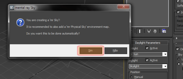 O que é PhysicalSky no Environment and Effects no 3ds Max?