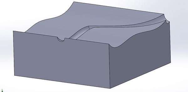 Sweep em face curvada no SolidWorks 2013