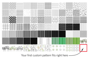 Padrões de Preenchimento Patterns fill Layout do Sketchup 2013