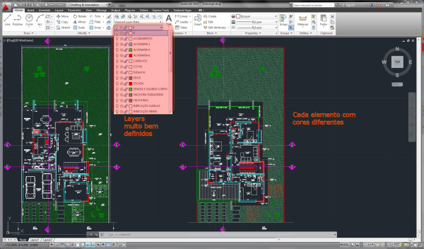Layers sem definições interface nova do AutoCAD
