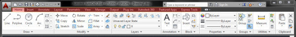 Veja as Guia do AutoCAD 2014 Interface Nova