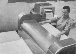 Processo de cópias tipo xerox por heliografia
