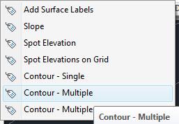 selecionando a opcao contour multiple