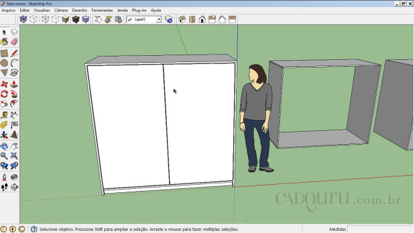 Resultado final do armario no sketchup