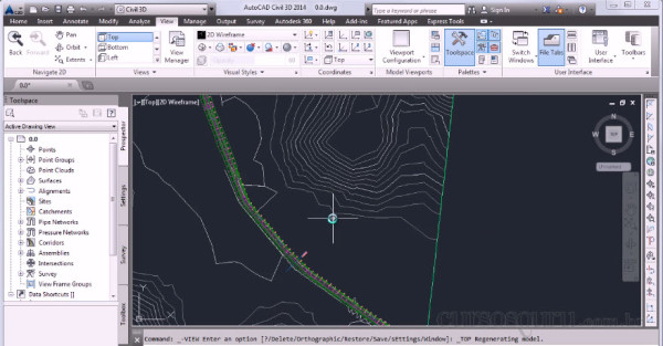 Objeto Corretor curso AutoCAD Civil 3D 2014 Essencial