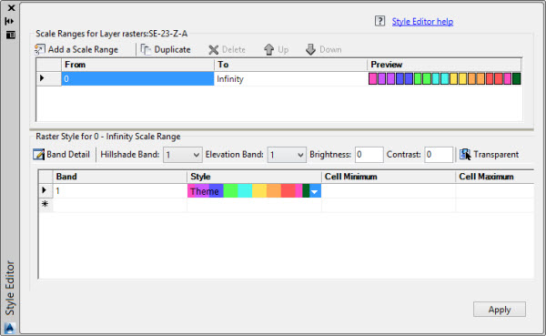 visualizando o editor de estilos no AutoCAD Civil 3D