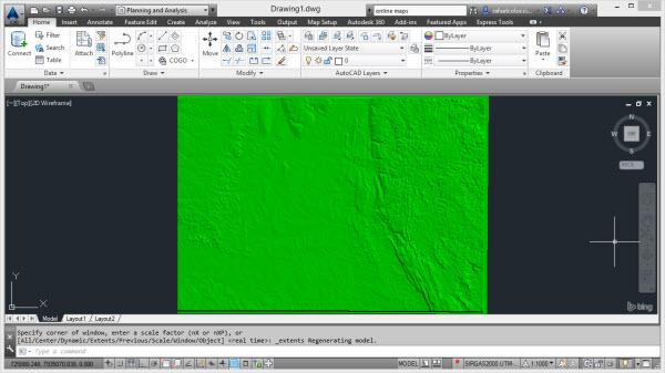 imagem raster no civil 3d