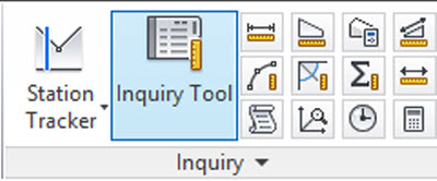 Inquiry Tools AutoCAD Civil 3D 2014