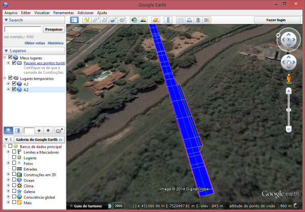visualizando no google earth