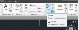 agrupando objetos AutoCAD 2014