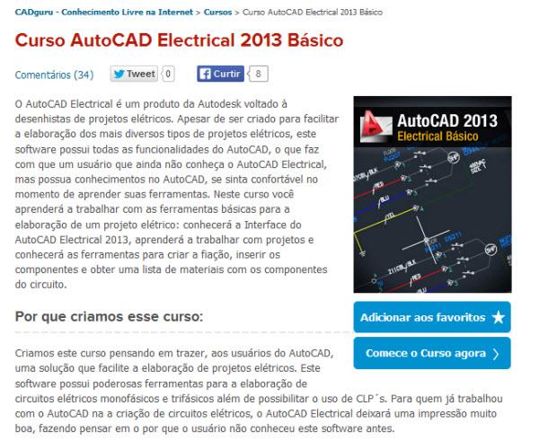 comece o curso de autocad electrical