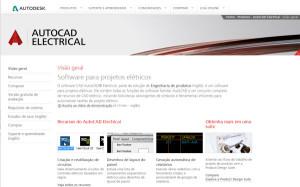 informacoes do autocad electrical na pagina da autodesk