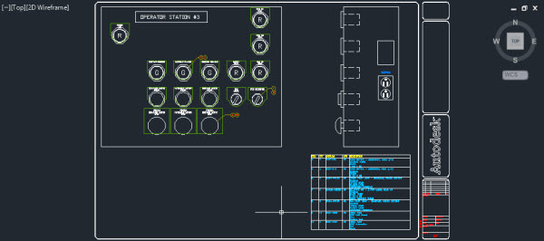 circuito no autocad electrical