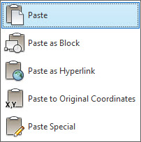 copy paste autocad