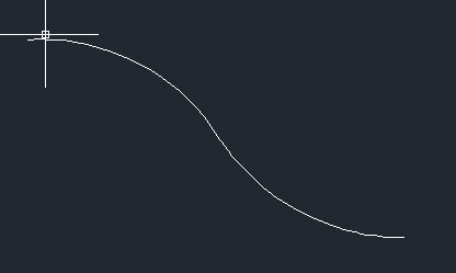 curva reversa autocad