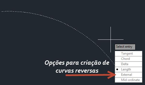 parametros da curva reversa