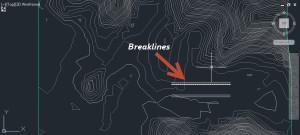 linhas em breaklines civil 3d