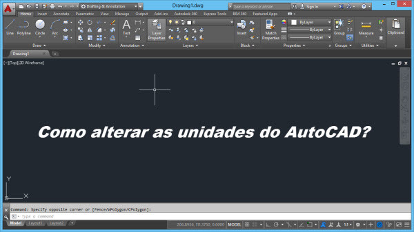 alterando as unidades autocad