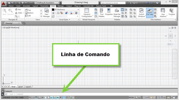 comand line no autocad