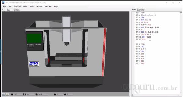cnc simulator sub programas