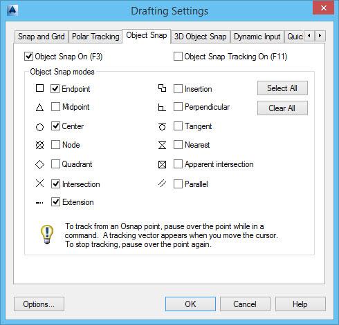drafting settings no AutoCAD CIvil 3D