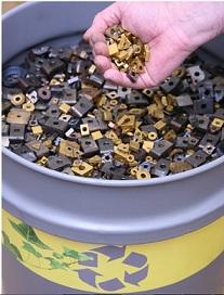 Reciclagem de metal duro