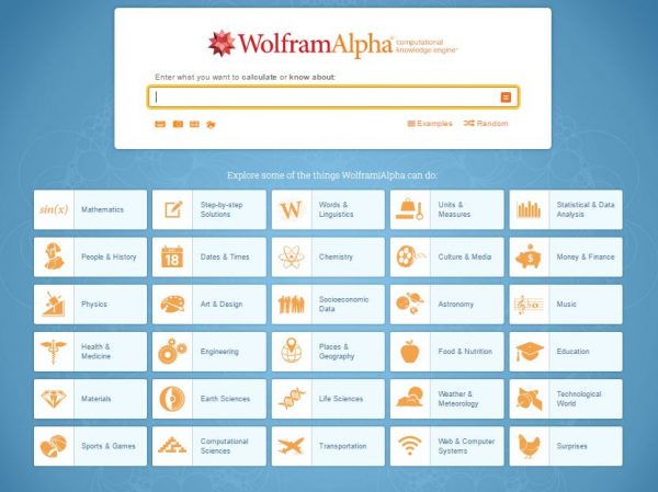 Site wolfram alpha